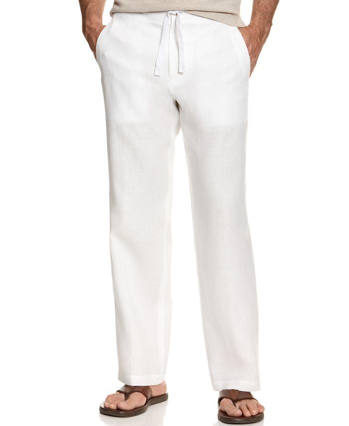 Tasso Elba - Pants, Linen Drawstring Pants