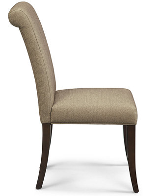 Bradford Scroll Back Upholstered Side Chair Furniture