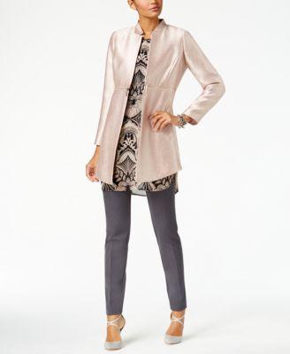 Alfani Metallic Zip-Detail Jacket, Created for Macys