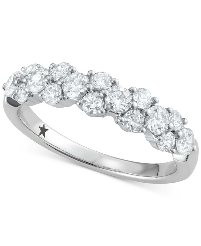 Macy's Star Signature Diamond - Certified ™ Garland Cluster Ring (1 ct. t.w.) in 14k White Gold