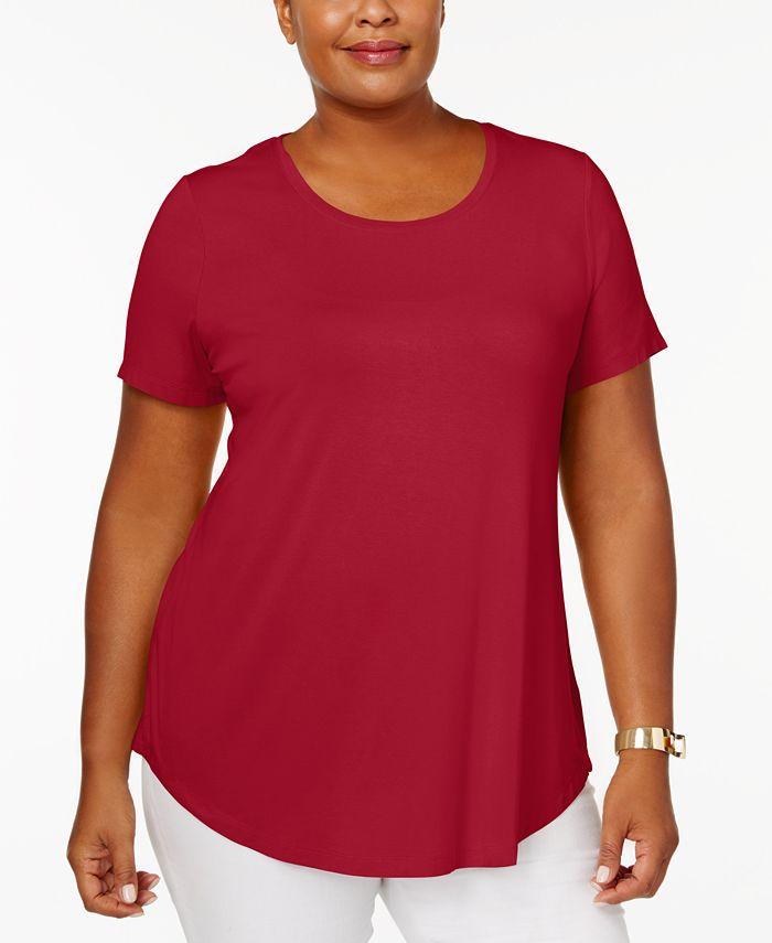 JM Collection - Plus Size Short-Sleeve Top