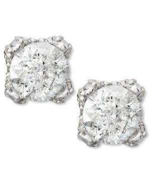 Diamond Stud Earrings in 14k White Gold (1 ct. t.w)