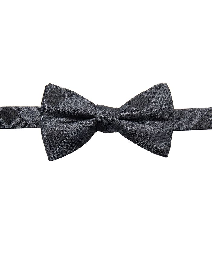 Ryan Seacrest Distinction - Men's Warwick Gingham Pre-Tied Silk Bow Tie, Created for Macy's