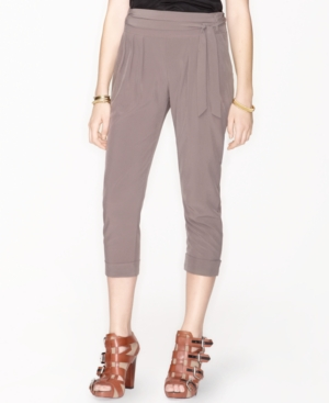 Bar III Pants, Slouchy Cropped Trouser