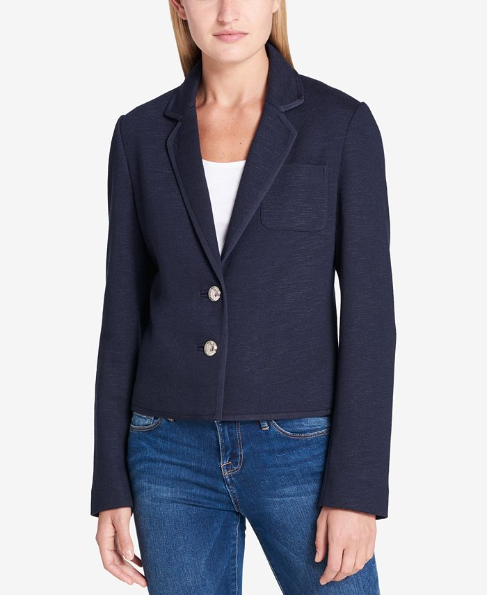 Tommy Hilfiger - Two-Button Blazer with Ribbed Trim