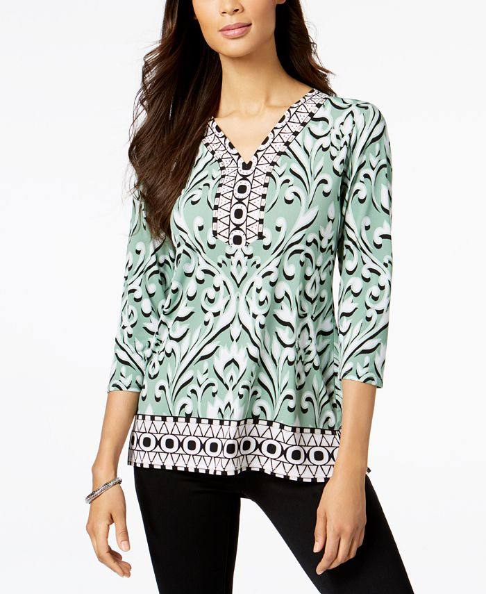 JM Collection - Petite Embellished Tunic