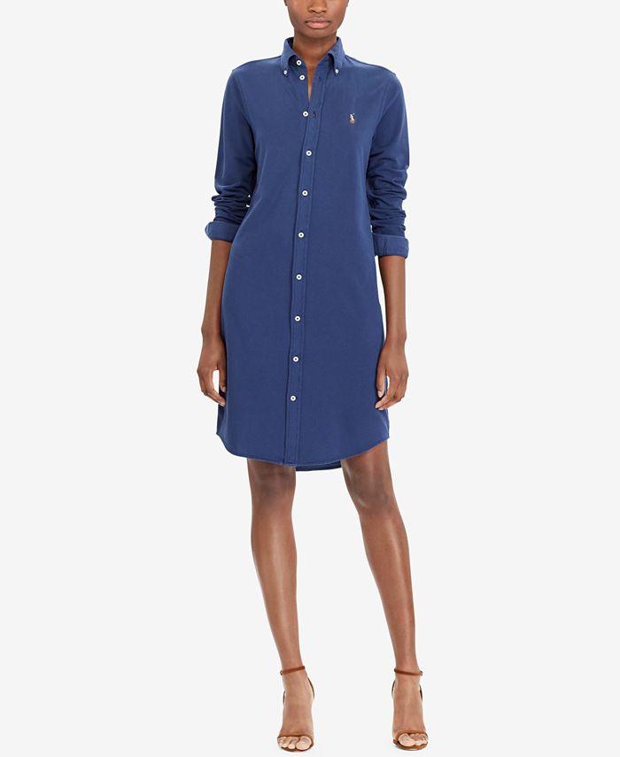 Polo Ralph Lauren Oxford Cotton Shirtdress & Reviews - Dresses ...