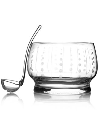 Mikasa Glassware, Cheers Punch Bowl with Ladle