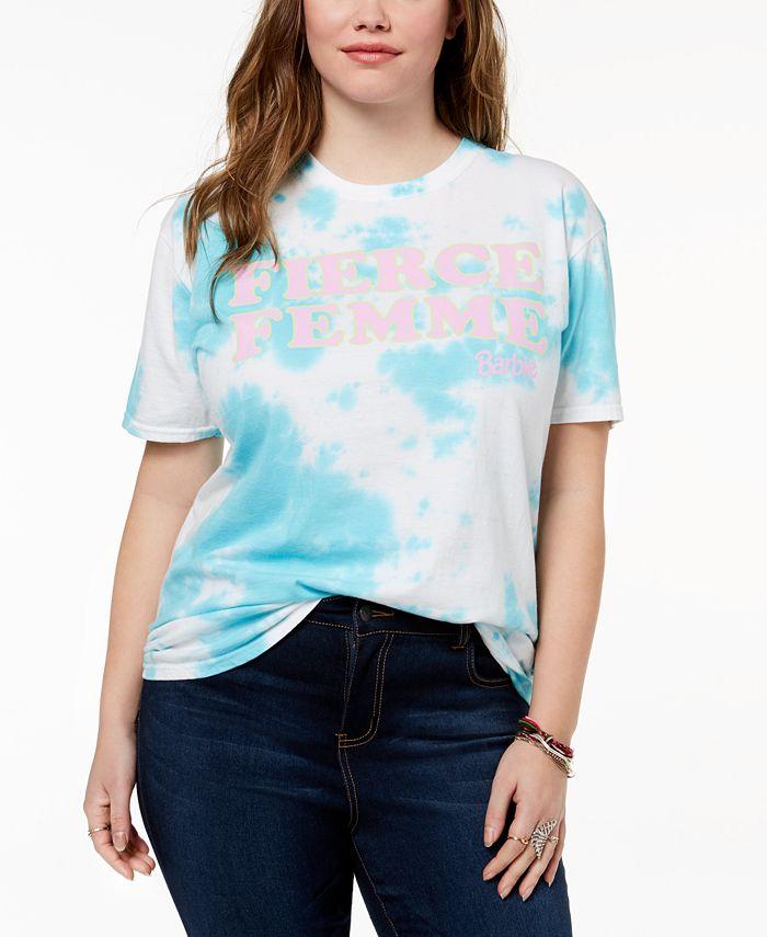 Love Tribe - Plus Size Fierce Femme Tie-Dyed T-Shirt