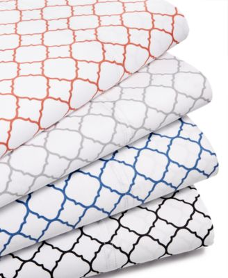 CLOSEOUT! Printed Geo California King 4-pc Sheet Set, 500 Thread Count, Created for Macy's