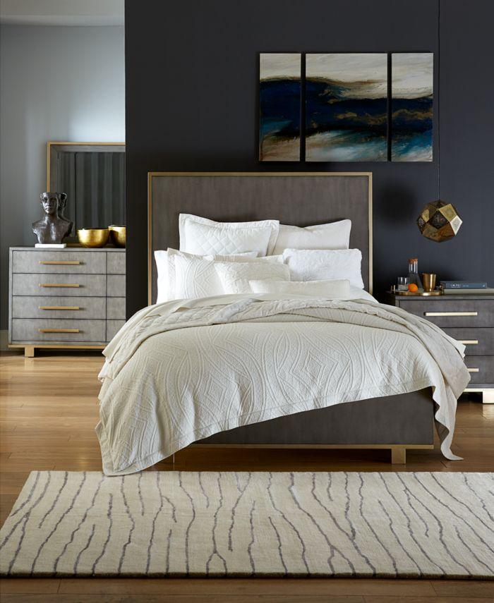 Furniture Petra Shagreen King Bed & Reviews - Furniture - Macy's