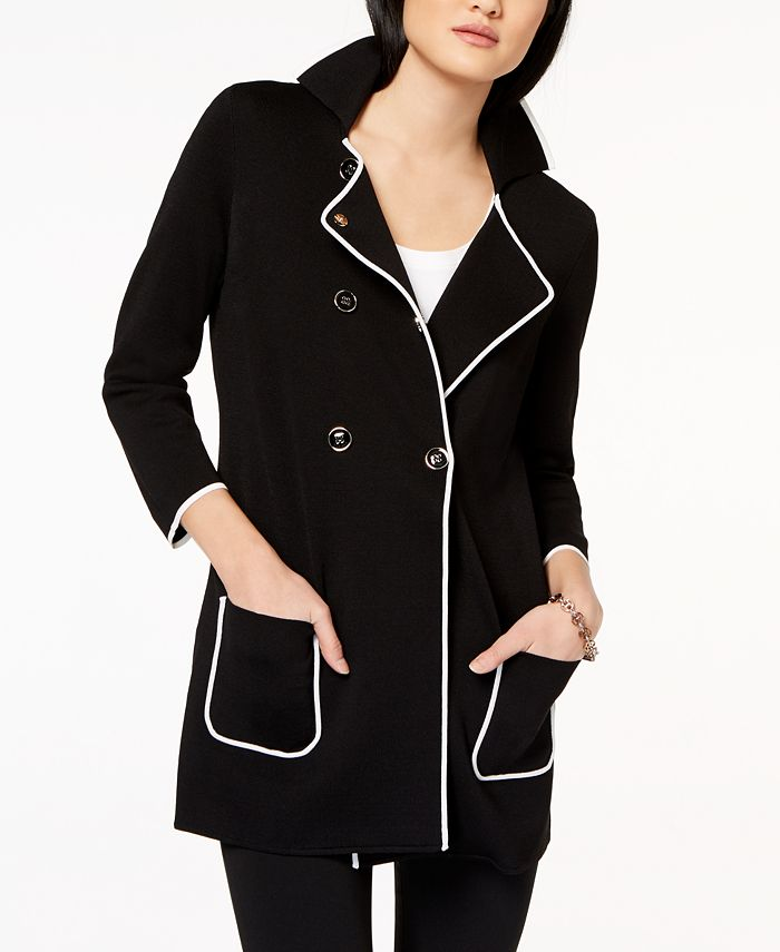 Tommy Hilfiger Colorblocked 3 4 Sleeve, Tommy Hilfiger Peacoat Macys