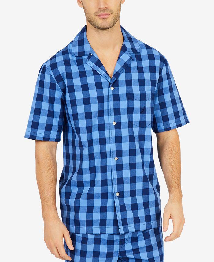 Nautica - Men's Buffalo Plaid Short-Sleeve Cotton Pajama Shirt