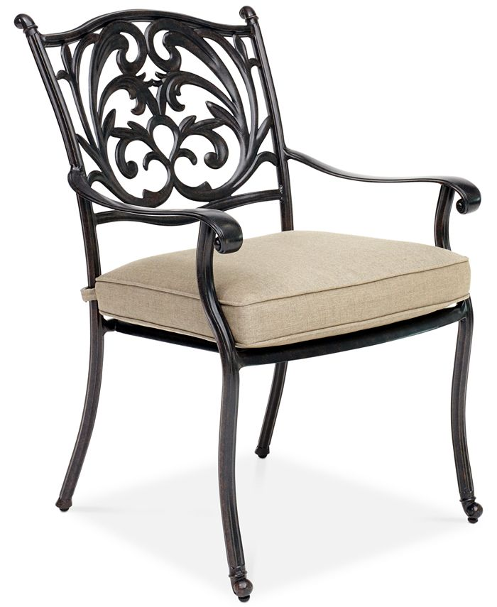 Furniture - Chateau Aluminum Outdoor Dining Chair with Sunbrella® Cushion