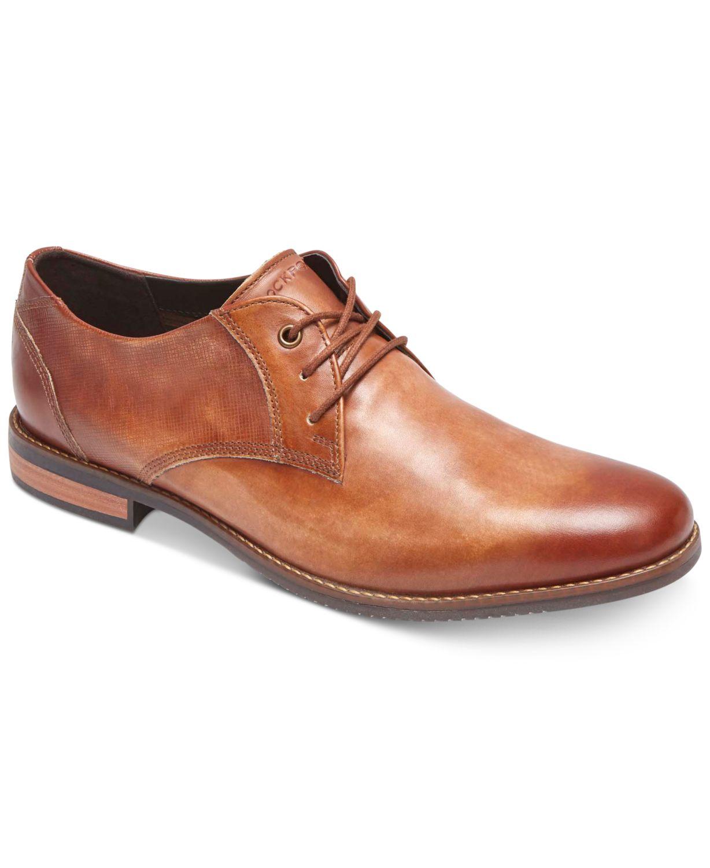 Rockport Men's Style Purpose Blucher Leather Oxfords  & Reviews - All Men's Shoes - Men - Macy's