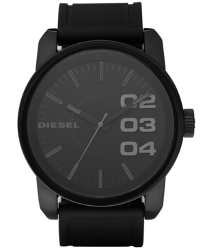Diesel Watch, Black Silicone Strap 46mm DZ1446 $ 140.00