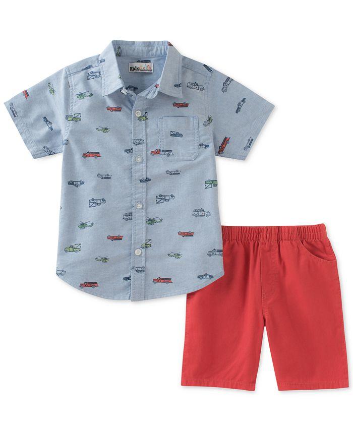Kids Headquarters - 2-Pc. Cotton Shirt & Shorts Set, Little Boys (2-7)