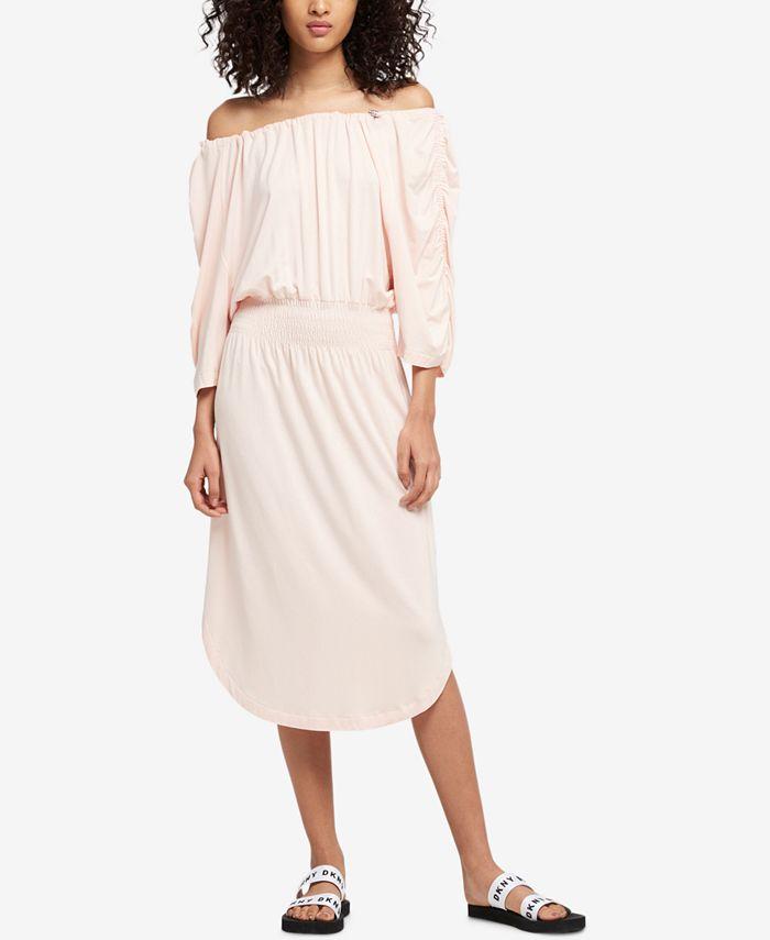 DKNY - Ruched Off-The-Shoulder Dress