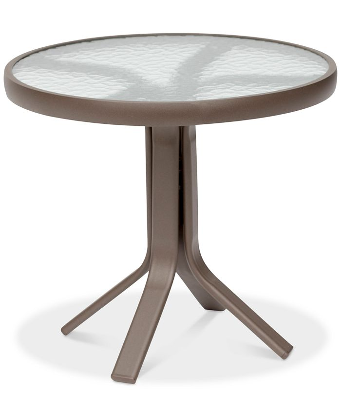 """Furniture - Aluminum 20"""" Round Outdoor End Table"""