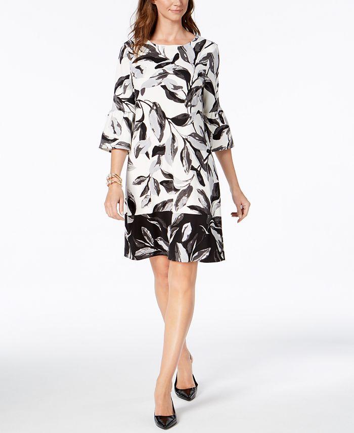 Alfani - Lantern-Sleeve Shift Dress