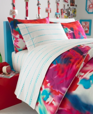 Teen Vogue Bedding, Poppy Art Floral Twin Sheet Set Bedding