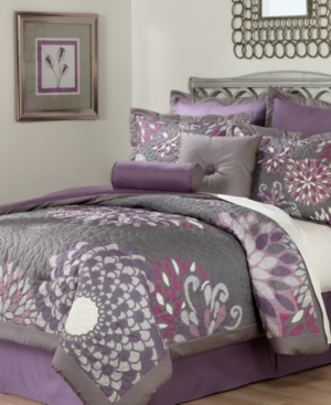 Bloom 8 Piece Full Comforter Set Bedding