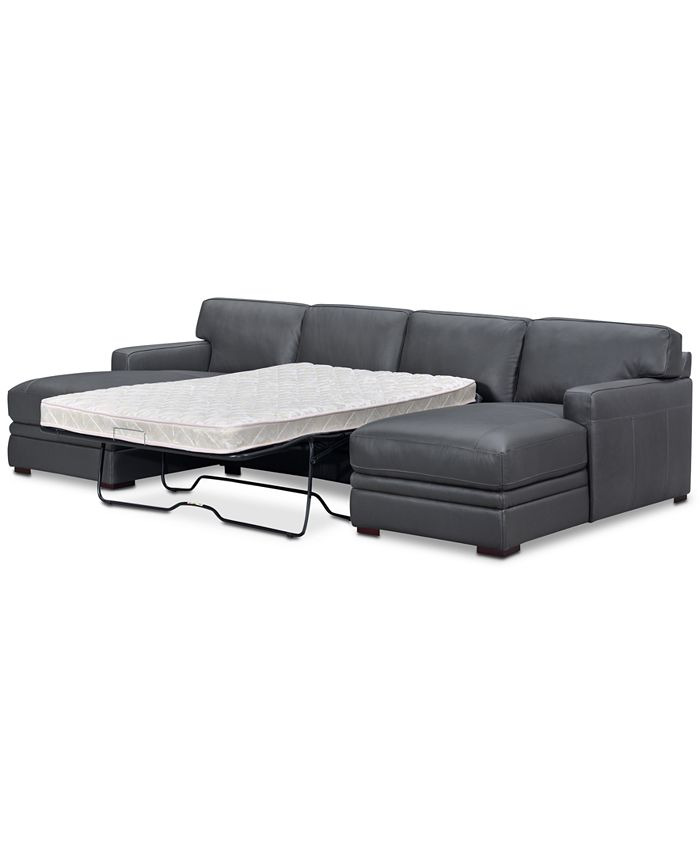 Furniture - Avenell 3-Pc. Sectional with Double Chaise & Sleeper Loveseat, Only at Macy's