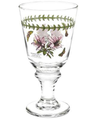Portmeirion Glassware, Set of 4 Botanic Garden Wine Glasses