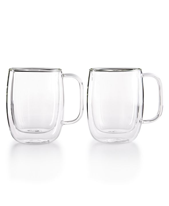 J.A. Henckels Zwilling Sorrento Double Wall Coffee Mugs, Set of 2
