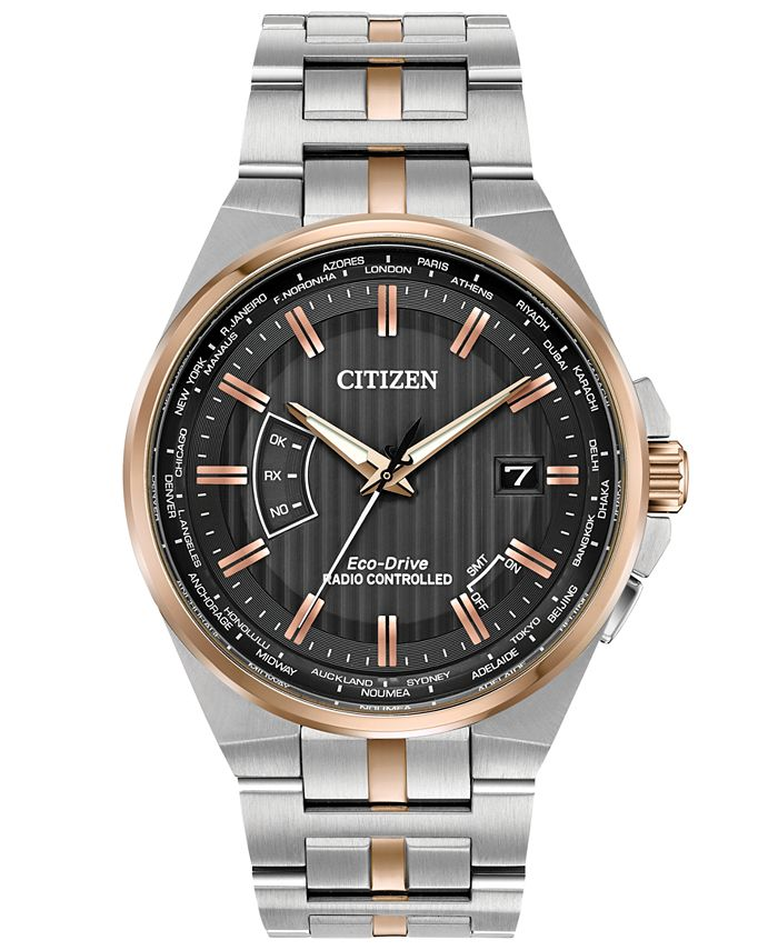 Citizen - Men's World Perpetual A-T Two-Tone Stainless Steel Bracelet Watch 42mm