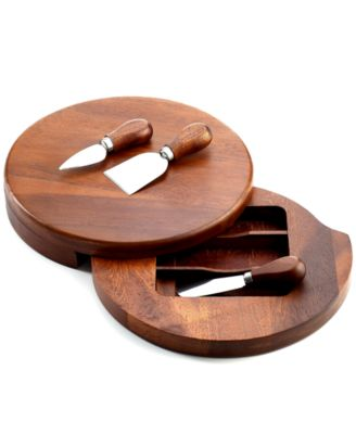 The Cellar Acacia Wood Cheese Board with Knife Set
