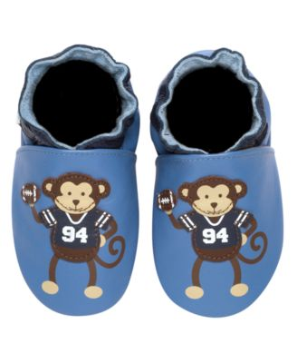 Robeez Soft Sole Baby Shoes, Baby Boys Football Monkey Shoes