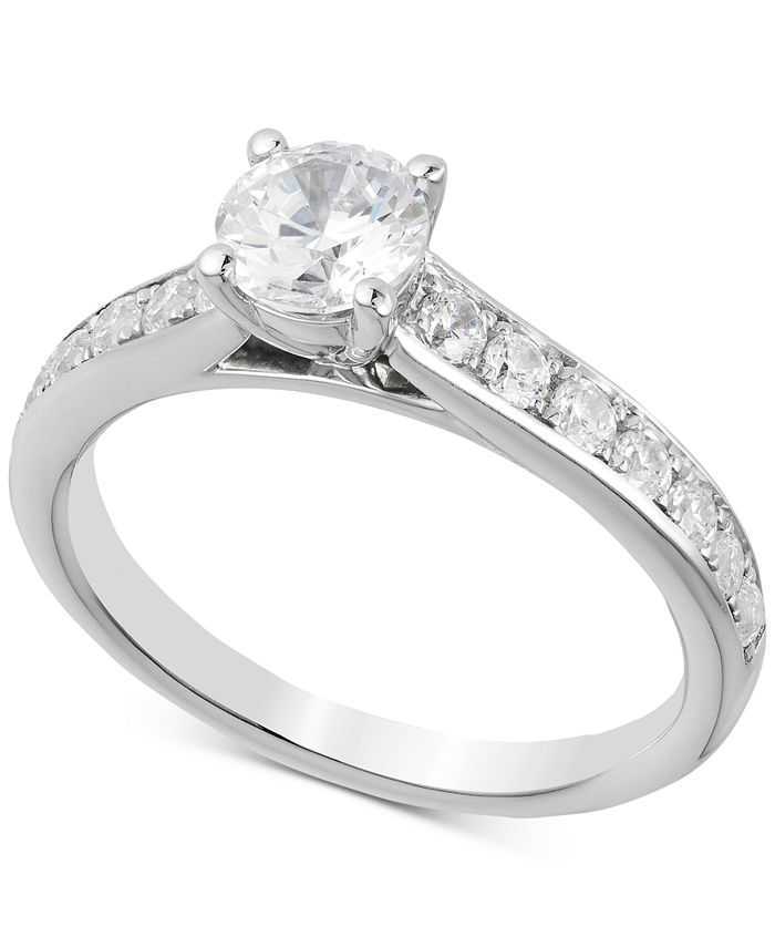 Macy's - Diamond Engagement Ring (1-1/4 ct. t.w.) in 14k White Gold
