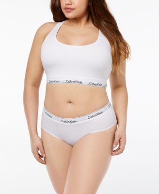 Plus Size Modern Cotton Logo Hipster Underwear QF5118