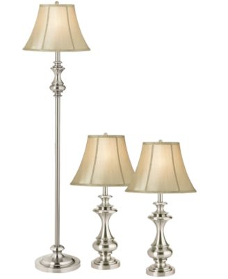 kathy ireland home by Pacific Coast Set of 3 Broadway Collection Lamps: 1 Floor Lamp and 2 Table Lamps
