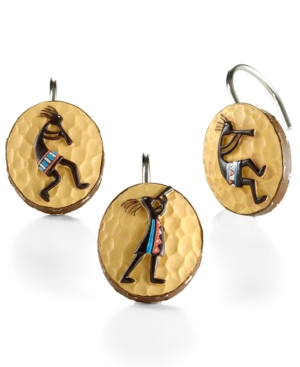 "Avanti ""Kokopelli"" Shower Curtain Hooks"