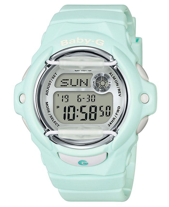 G-Shock - Women's Digital Green Resin Strap Watch 42.6mm