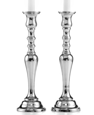 Set of 2 Tall Hampton Silver Candlesticks