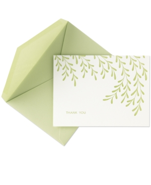Crane Stationery, Letterpress Willows Thank You Notes