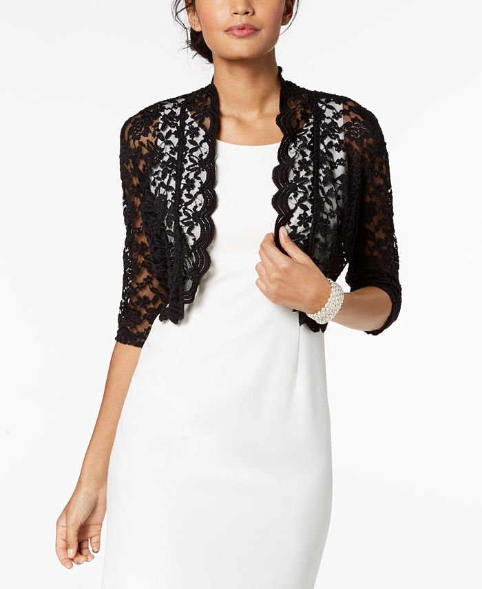 Connected - Scalloped Lace Shrug
