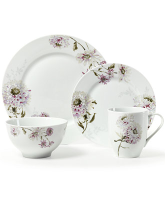 Mikasa Dinnerware, Lavender Silk Floral Collection