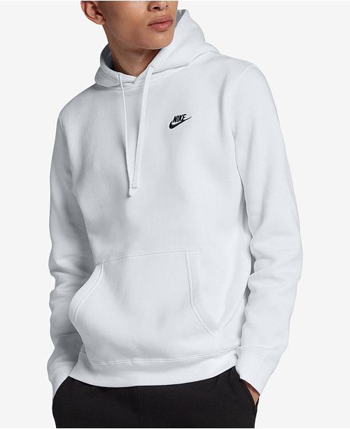 Nike Men's Pullover Fleece Hoodie & Reviews - Hoodies ...