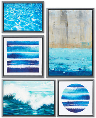 Jla Home Madison Park Water Tide 5 Pc Gallery Wall Art Set Reviews Wall Art Macy S
