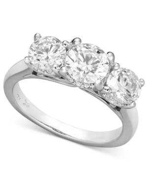 X3 Certified Three-Stone Diamond Ring in 18k White Gold (2 ct. t.w.)