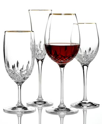Waterford Stemware, Lismore Essence Gold Iced Beverage Glass