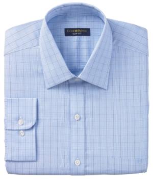 Club Room Dress Shirt, Slim Fit Glen Plaid Long Sleeve Dress Shirt