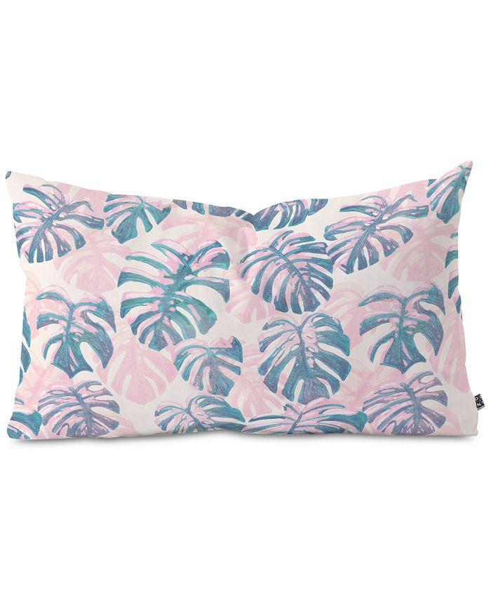 Deny Designs - Pinky Palms Oblong Decorative Pillow