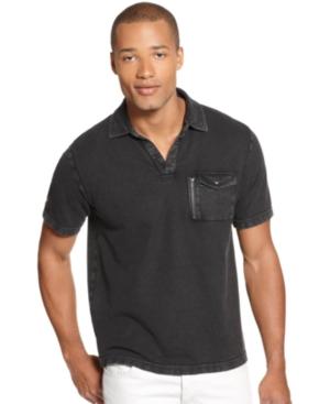 Alfani Shirt, Slim Fit Washed Polo Shirt