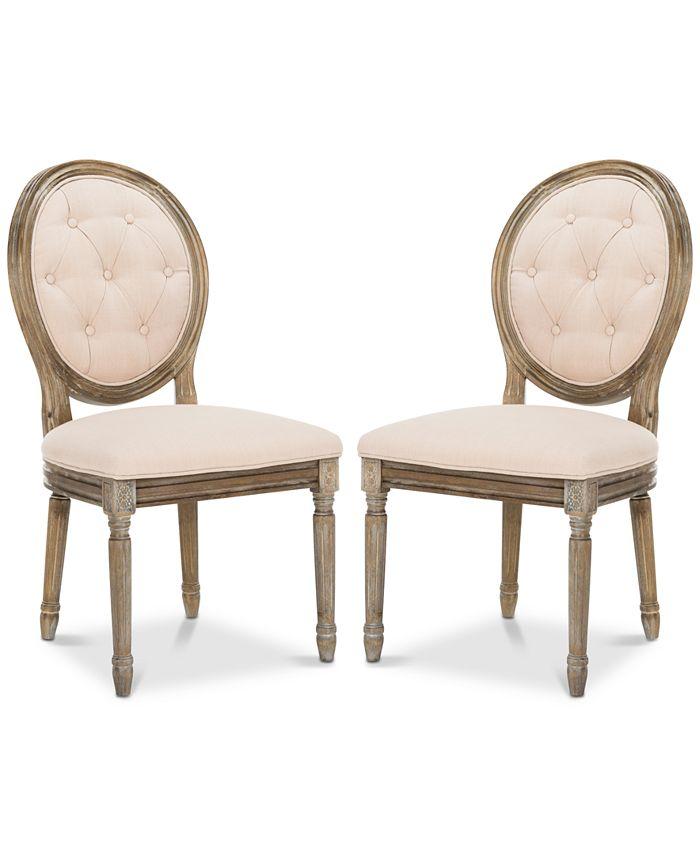 Safavieh - Claudius Side Chair (Set Of 2), Quick Ship