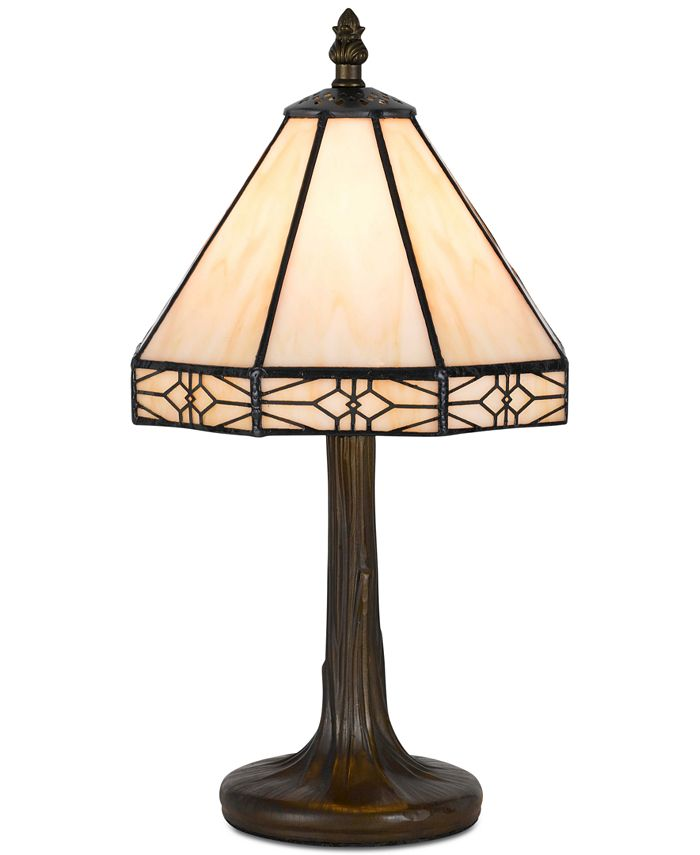 Cal Lighting - 40W Tiffany Accent Lamp with Zinc Cast Base